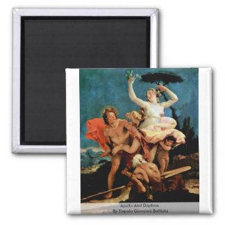Apollo och Daphne av Tiepolo Giovanni Battista Magnet