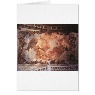 Apollo och kontinentarna av Giovanni Battista Hälsningskort
