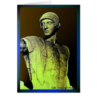 Apollo på mirrowen hälsningskort