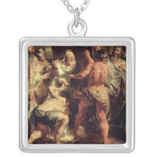 Apostlarna, Stet Paul och St.en Barnabas på Lystra Silverpläterat Halsband