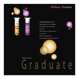 Apotektillkännagivande för studenten fyrkantigt 13,3 cm inbjudningskort
