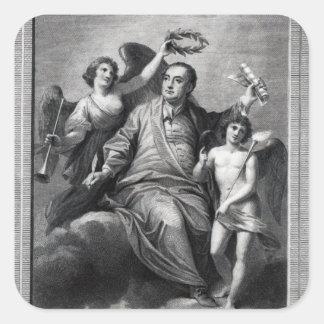 Apotheosis av Handel, 1787 Fyrkantigt Klistermärke