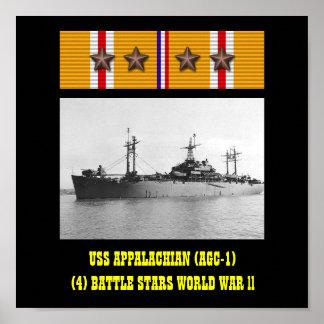 APPALACHIAN (AGC-1) AFFISCH FÖR USS
