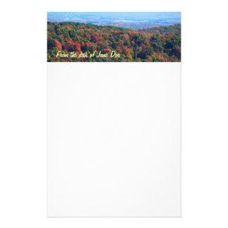 Appalachian berg i nedgångnaturfotografi brevpapper