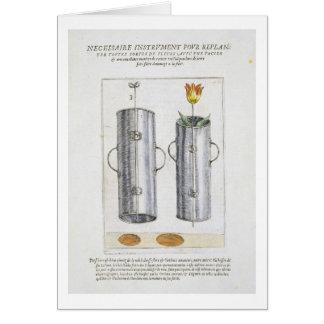 Apparat för beträffande-att plantera blommor, från hälsningskort