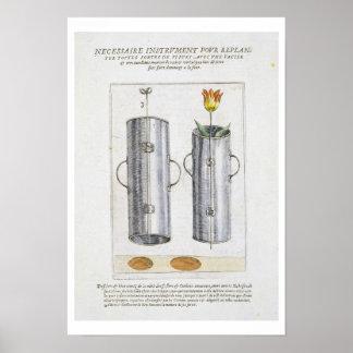 Apparat för beträffande-att plantera blommor, från poster