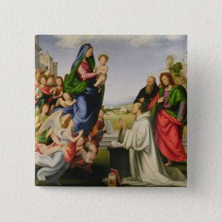 Apparition av oskulden till St Bernard, 1504-07 ( Standard Kanpp Fyrkantig 5.1 Cm