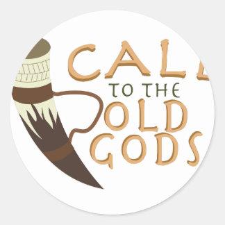 Appell till de gammala gudarna runt klistermärke