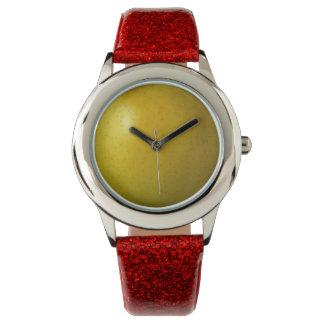 Apple beställnings- rött glitter armbandsur