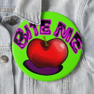 Apple BITER MIG som den nostalgiska Retro 90-tal Jumbo Knapp Rund 15.2 Cm