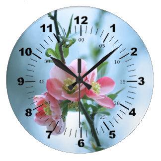 Apple blommar #P0365 Stor Klocka