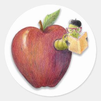 Apple bokmal runt klistermärke