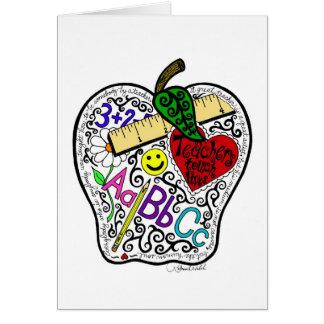 Apple för lärare hälsningskort