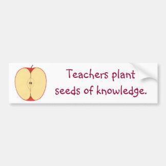 Apple frö av kunskapsbildekal bildekal