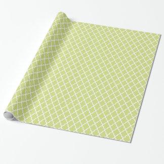 Apple - grön sjal för Quatrefoil mönstergåva Presentpapper