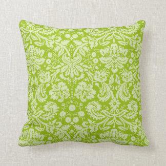Apple - grönt damastast mönster kudde