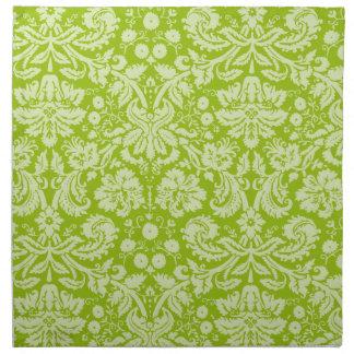 Apple - grönt damastast mönster tygservett