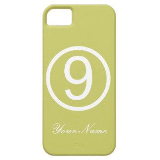 Apple - grönt och vit numrerar fodral nio barely there iPhone 5 fodral