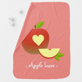 Apple kärlek bebisfilt