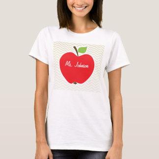 Apple på beige sparre; sicksack tee shirt