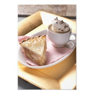 Apple paj och varm kakao fototryck