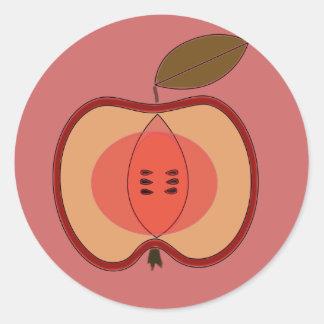 äpple runt klistermärke