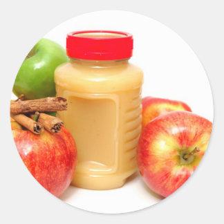 Äpplekanel och Applesauce Runt Klistermärke