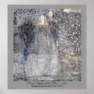 Äpplen MacDonald 1912 för bröllopart nouveausilver Poster