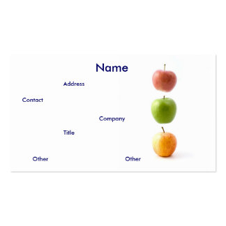 Äpplen mig visitkort