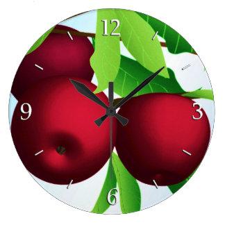 """""""Äpplen på en gren """", Stor Klocka"""