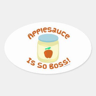 Applesauce är så chefen! ovalt klistermärke