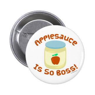 Applesauce är så chefen! standard knapp rund 5.7 cm