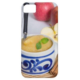 Applesauce med kanel i stengodsbunke iPhone 5 fodraler