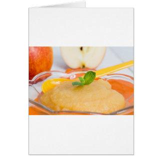 Applesauce med kanel och den orange skeden hälsningskort