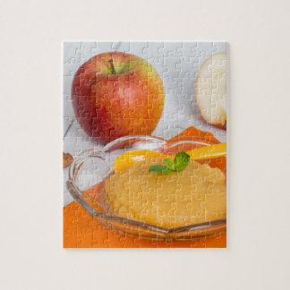 Applesauce med kanel och den orange skeden jigsaw puzzle