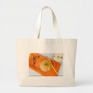 Applesauce med kanel och den orange skeden jumbo tygkasse