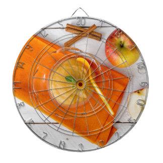 Applesauce med kanel och den orange skeden piltavla