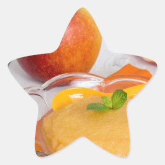 Applesauce med kanel och den orange skeden stjärnformat klistermärke