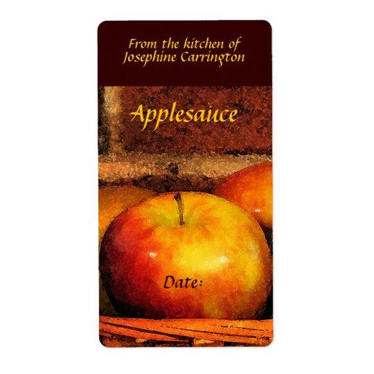 Applesauceetiketter Fraktsedel