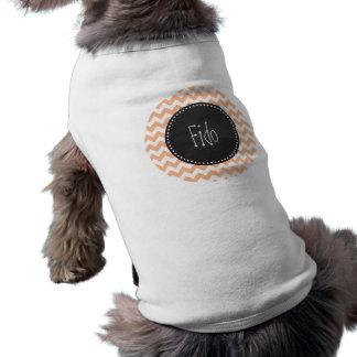 Aprikosfärgsparre; Retro svart tavlalook Tröja För Hundar