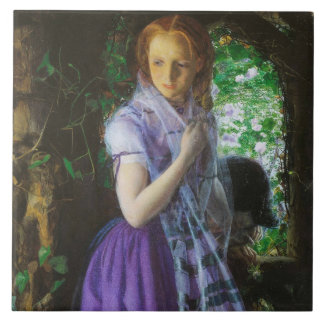 April kärlek av Arthur Hughes Stor Kakelplatta