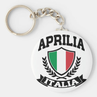 Aprilia Italia Rund Nyckelring