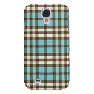 Aqua-/chokladpläd Pern Galaxy S4 Fodral