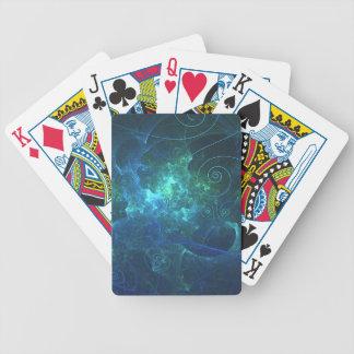 Aqua flammar fractalen som leker kort spelkort