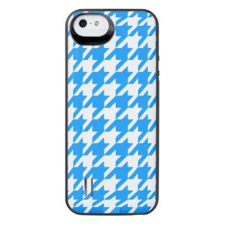 Aqua Houndstooth 1 iPhone SE/5/5s Batteri Skal