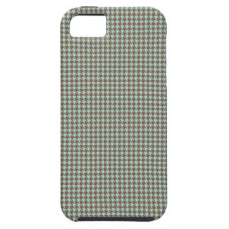 Aqua och bruntherringbone tough iPhone 5 fodral