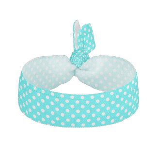 Aqua- och vitpolka dots hårband