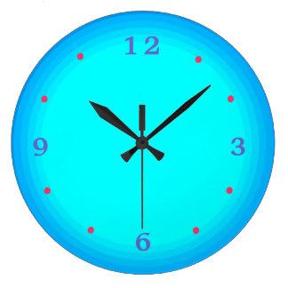 Aqua/röda green/blått > kök tar tid på stor klocka