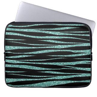 Aqua Sparkles med zebra rändertrycket