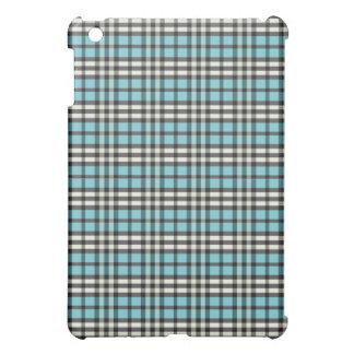 Aqua/svart pläd Pern iPad Mini Mobil Skydd